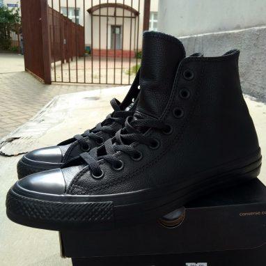 ... купить All Star Chuck Taylor Минск. Converse 135251C кожа полностью  черные Минск ... 9ddcd7d65af91